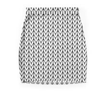 Chevrons Knit Style Mini Skirt