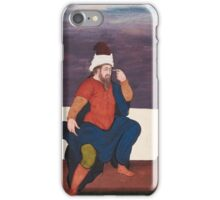 A European figure seated on a bench, India, Mughal, first half 17th century,  iPhone Case/Skin