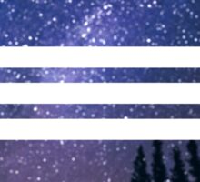 Stripes in the night sky Sticker