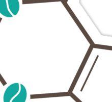 coffee beans caffeine structure Sticker