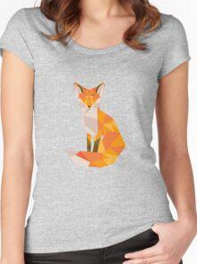 Geometric Fox Women's Fitted Scoop T-Shirt