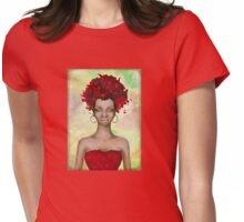 Crazy Red Hair morning Womens Fitted T-Shirt