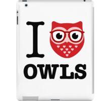 I love owls (glasses) iPad Case/Skin