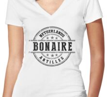 Bonaire, The Netherlands Antilles Women's Fitted V-Neck T-Shirt