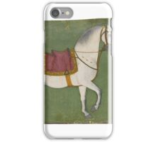 A horse and groom, attributed to the Early Master of the Court of Mandi or his atelier, Mandi iPhone Case/Skin