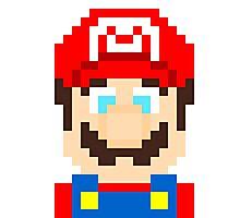 Pixel Mario - Mario Bros. - Super Smash Bros. Photographic Print
