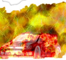 RALLY 1 FIRE BALL LIGHTNING   Sticker