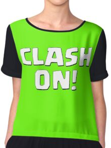 Clash On! Chiffon Top