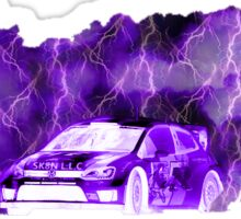 RALLY 1 PURPLE LIGHTNING   Sticker