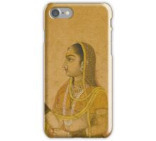 A Lady Holding a Flower, India, Mughal, 17th century iPhone Case/Skin