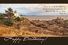 Lighthouse Faith-Based Birthday Card by Tracy Friesen