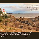 Lighthouse Faith-Based Birthday Card by Tracy Friesen