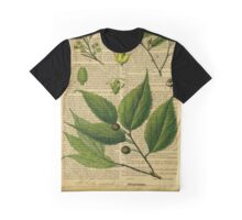 Botanical print on old book page Graphic T-Shirt