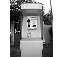 Telephone, old telephone cell from Ghana, West Africa Photographic Print