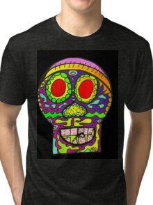 Dia de los Muertos , Day of the Dead - Sugar Skull d Tri-blend T-Shirt