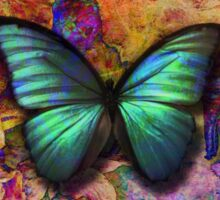 Colorful iridescent butterfly Sticker