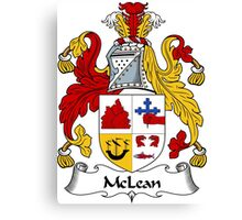 McLean Coat of Arms / McLean Family Crest Canvas Print