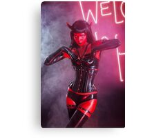 She Devil Halloween shoot Canvas Print