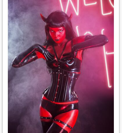 She Devil Halloween shoot Sticker