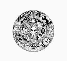 Alien Mandala Black and White Unisex T-Shirt
