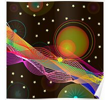 Abstract Space background for design. Poster