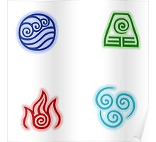The Four Nations Symbols Poster