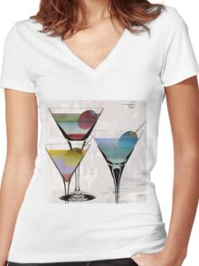 Martini Prism Women's Fitted V-Neck T-Shirt