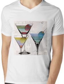 Martini Prism Mens V-Neck T-Shirt