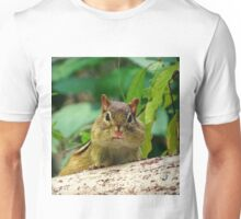 Chipmunk with mouth full of food :) Unisex T-Shirt