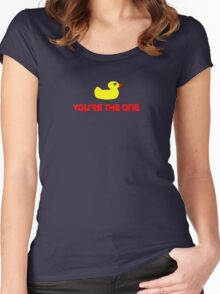 Rubber Ducky You're The One - I Love Duck T-Shirt Women's Fitted Scoop T-Shirt