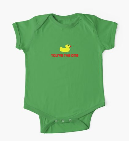 Rubber Ducky You're The One - I Love Duck T-Shirt One Piece - Short Sleeve