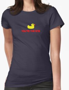 Rubber Ducky You're The One - I Love Duck T-Shirt Womens Fitted T-Shirt