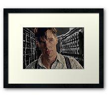 The Imitation Game - Benedict Cumberbatch Digital Portrait  Framed Print