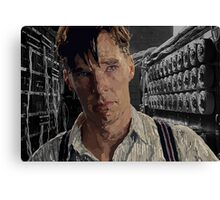 The Imitation Game - Benedict Cumberbatch Digital Portrait  Canvas Print