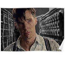 The Imitation Game - Benedict Cumberbatch Digital Portrait  Poster
