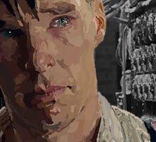 The Imitation Game - Benedict Cumberbatch Digital Portrait  Sticker