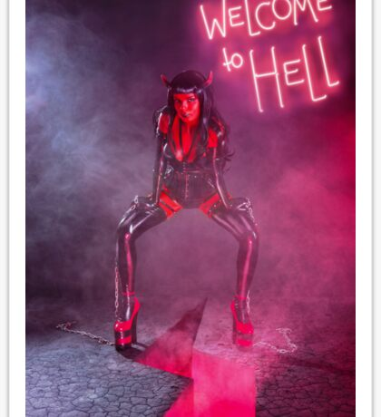 She Devil Full length photo Sticker