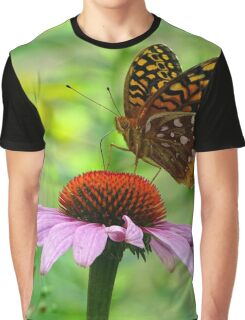 Beautiful butterfly on flower Graphic T-Shirt