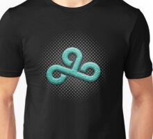 Cloud 9 Teal Logo w/ Dot Gradient Unisex T-Shirt