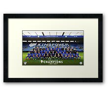 Leicester champions team Framed Print