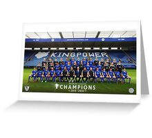 Leicester champions team Greeting Card