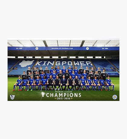 Leicester champions team Photographic Print