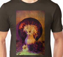 Still Life with Daisy flowers and grapes Unisex T-Shirt
