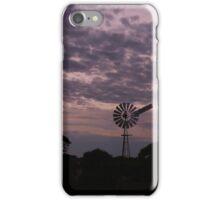 Windmills along the Nullarbor Desert iPhone Case/Skin