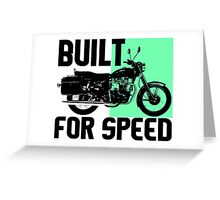 BUILT FOR SPEED-MOTORCYCLE Greeting Card