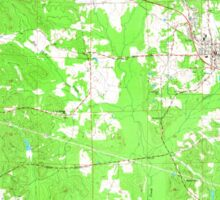 USGS TOPO Map Alabama AL Gordo 304005 1967 24000 Sticker