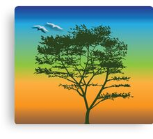 Tree dreams – multi-colors Canvas Print