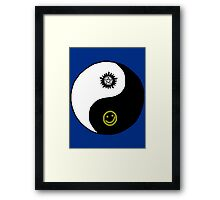 Supernatural/Doctor Who/ Sherlock Yin Yang Symbol Framed Print