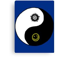 Supernatural/Doctor Who/ Sherlock Yin Yang Symbol Canvas Print