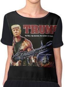 Rambo Trump Chiffon Top